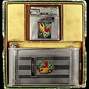 Garmisch-Partenkirchen Germany Souvenir Lighter, Camera Shaped Cigarette, Compact & Lipstick w/Box