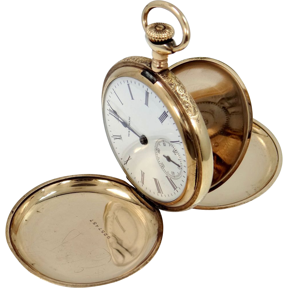 Waltham 16S Closed Face 1906 Pocket Watch NIce Case Working Condition