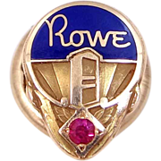 14k Gold Rowe Ami Jukebox Service Pin