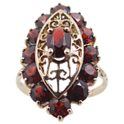 Ladies 10k Genuine Garnets Ring Size 10