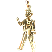 "14k Gold 1950's ""Hitch Hiker"" Charm"