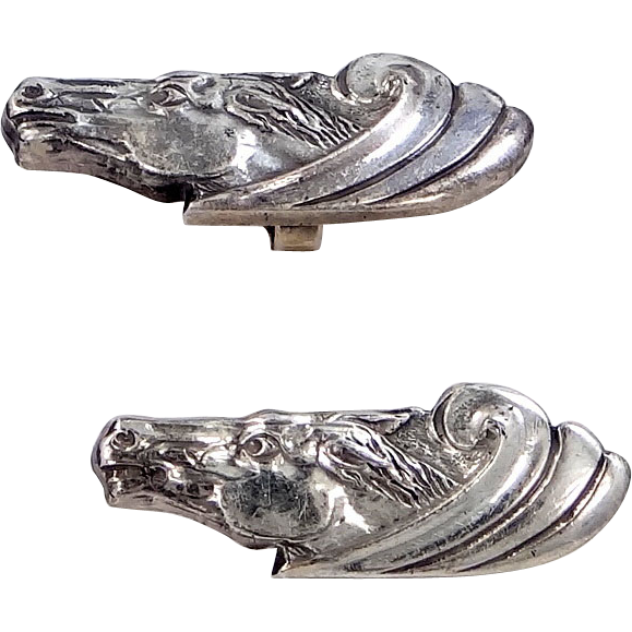 Christian Dior Figural Horse Head Cufflinks