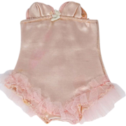 Jeanstyle Pink Stretch Satin & Lace Doll Girdle
