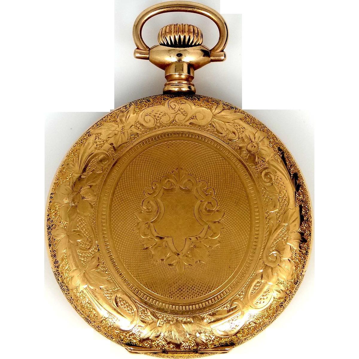 Circa 1909 Elgin Closed Face Pocket Watch Running ...