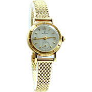 Ladies Retro 14k Gold ROLEX Wrist Watch 14k Gold Case & Band