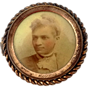 Victorian Photo Pin Well Dressed Black Woman