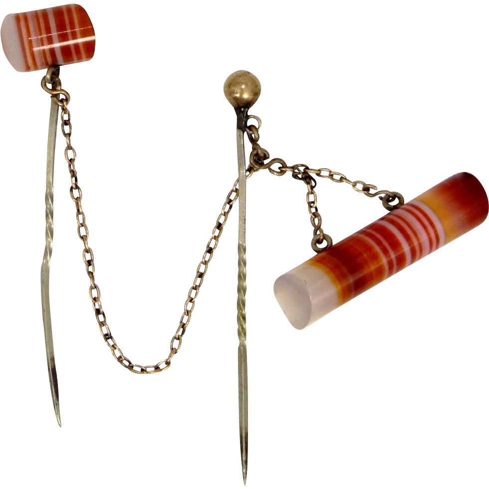 Victorian Scottish Agate Scatter Pins