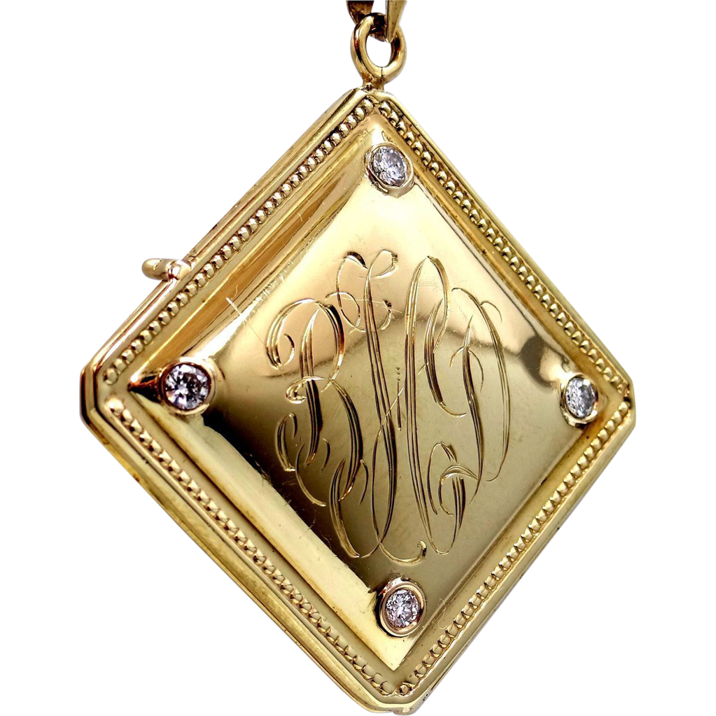 14k Gold & 0.60 tcw Diamonds Locket