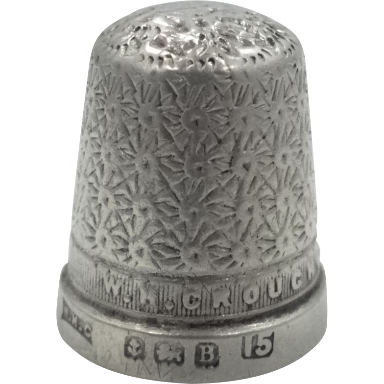 W.M.Couch Swansea Sterling Silver Thimble