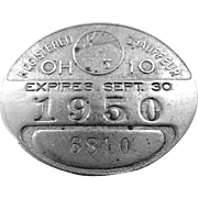 1950 Ohio Chauffeur Badge