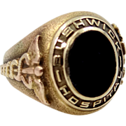 10k Gold 1943 Bushwick Hospital Jewett Training School for Nurses Ring