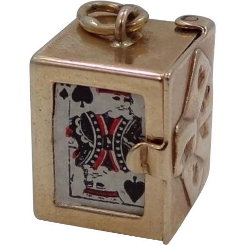 14k Gold Deck of Cards Charm