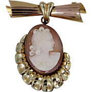 Bal-Ron Gold Filled Retro Cameo Lapel Pin
