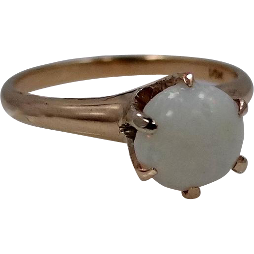 Victorian 10k Gold Opal Ring