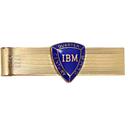 Vintage IBM Quarter Century Club Tie Bar
