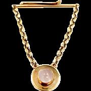 Retro 10k Gold Moonstone Krementz Diana Tie Bar