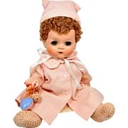 """11"""" Ideal Betsy Wetsy Doll With Caracul Wig Near Mint Condition"""