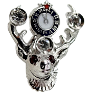 14k White Gold Elks Club Lapel Pin