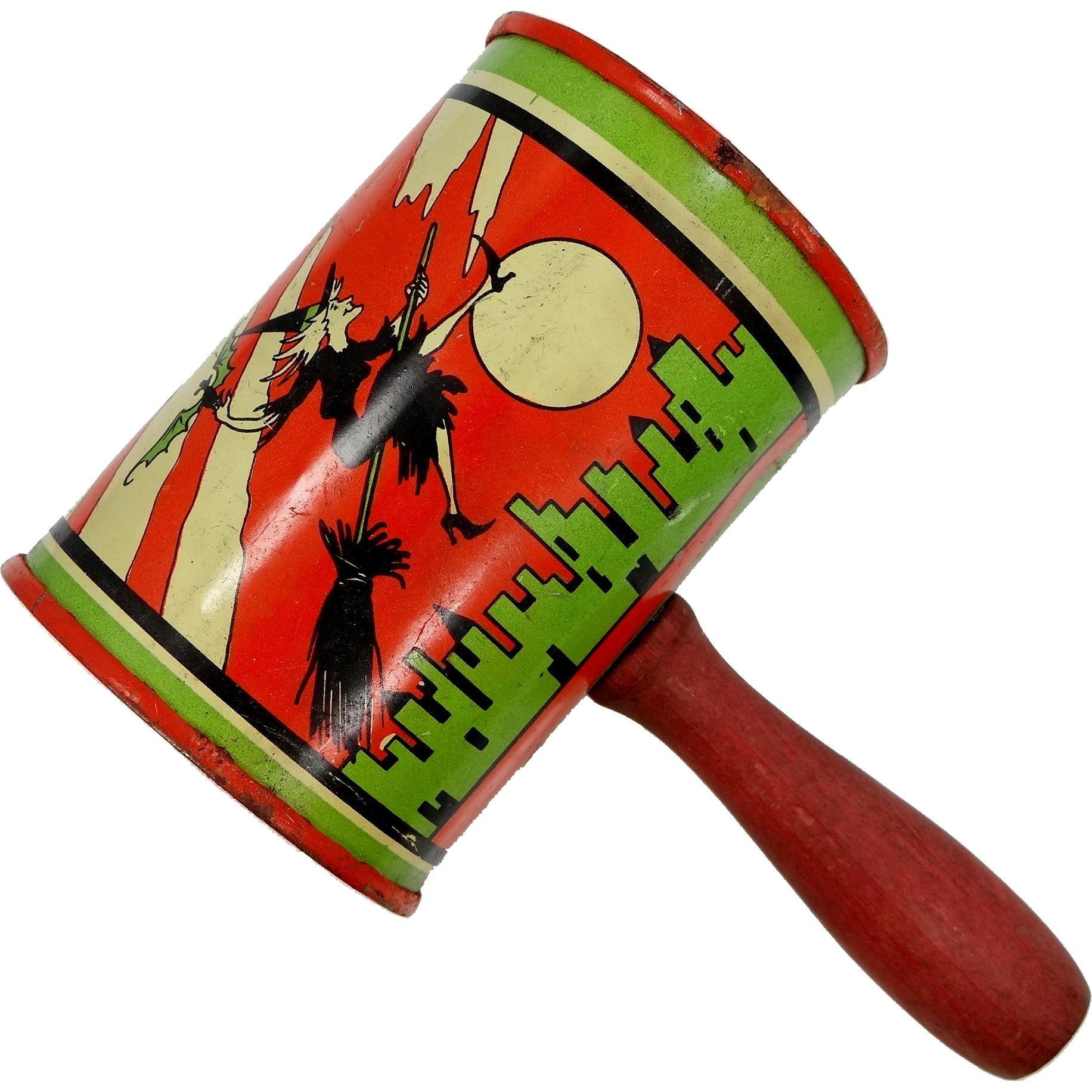 T. Cohn Halloween Mallet Style Noisemaker w/Witch, Bat, Ghost, Owl and Moon