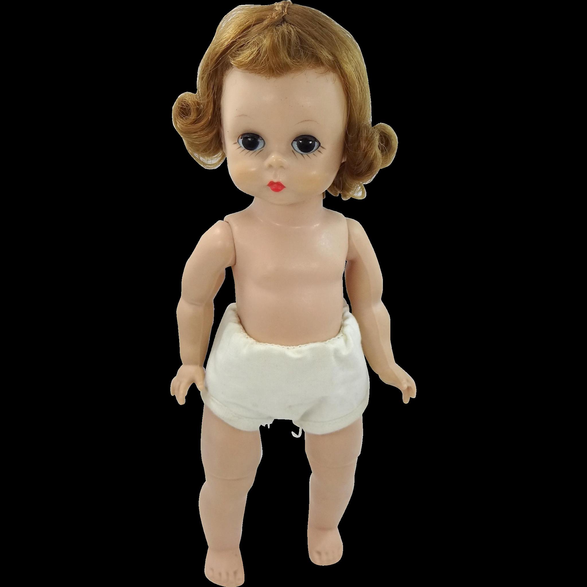 1950s Mme Alexander-kins Wendy BKW Doll Triple Stitch Wig