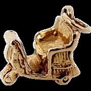 14k Gold Rickshaw or Carriage Charm