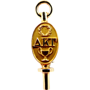 10k Gold Delta Kappa Gamma Sorority Pin 1930's