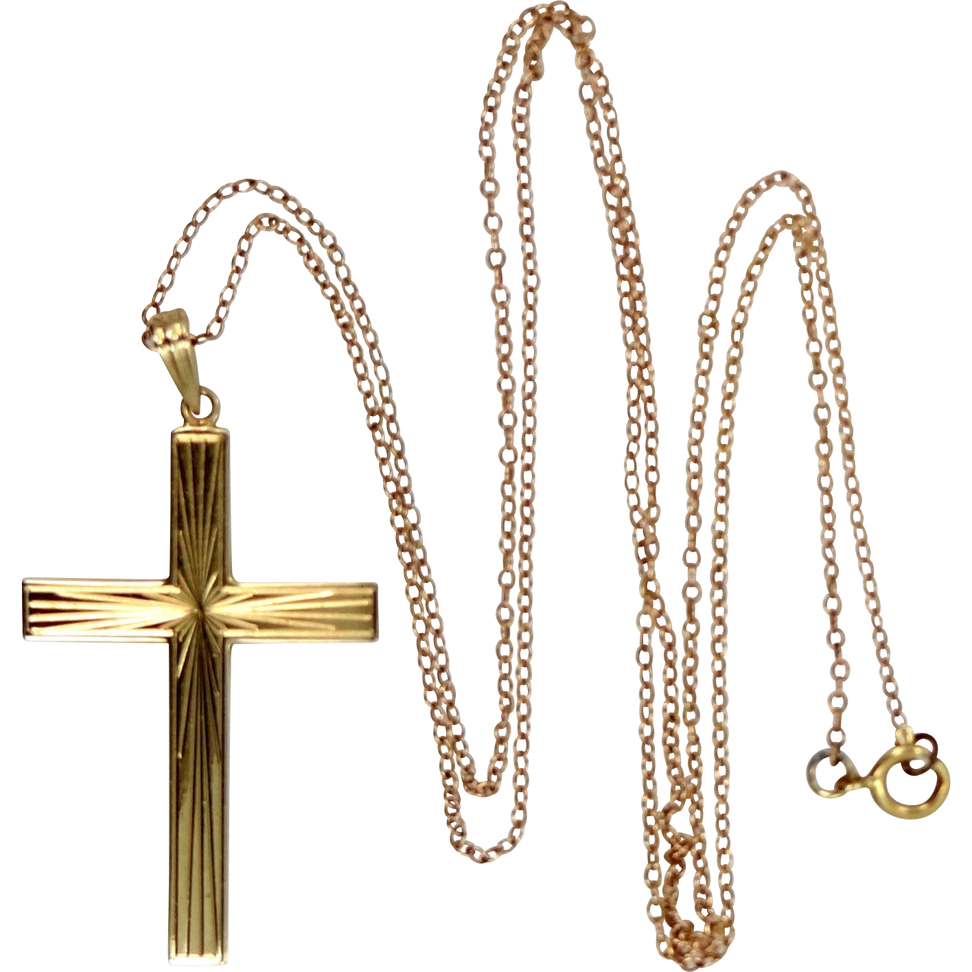 14k Gold Cross and Chain