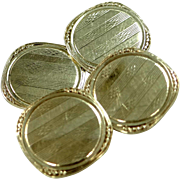 Edwardian 10k Gold Cufflinks Cuff Links