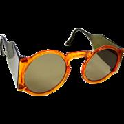 1930's Faux Tortoise Sun Glasses With Side Shields Sunglasses