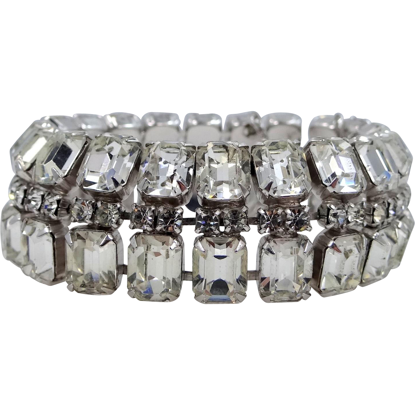 WEISS Brilliant Crystals Chunky Bracelet