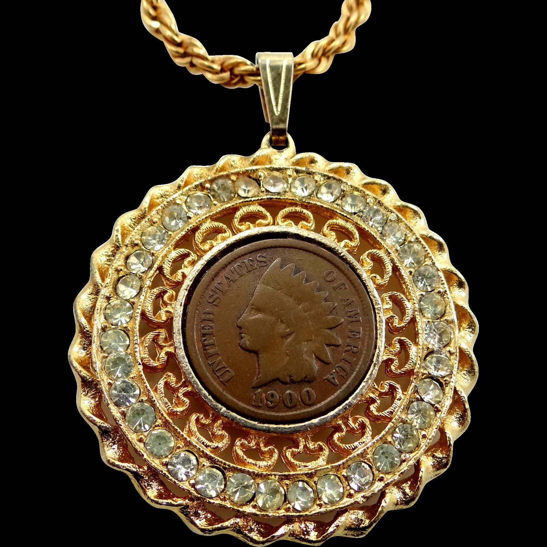Juliana Clear Rhinestone Penny Necklace