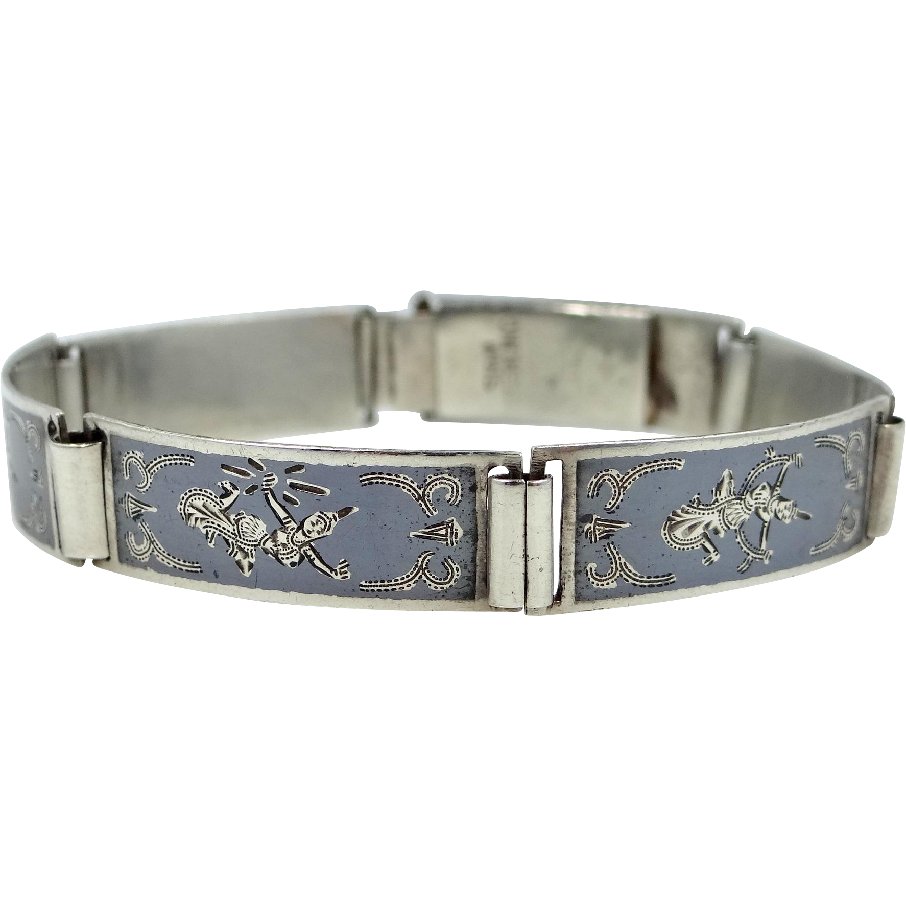 siam sterling silver bracelet in mint condition from mur