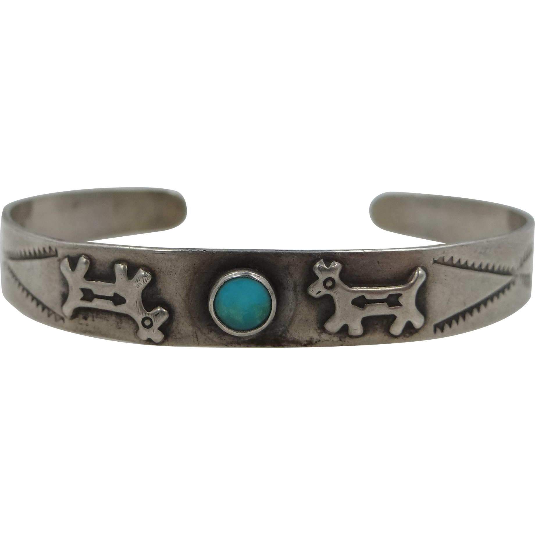 Maisels Trading Post 3 Sterling and Turquoise Cuff Bracelet