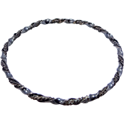 1930's Cuernavaca Mexico Sterling Silver Bangle Bracelet