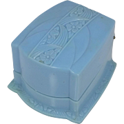 "Powder Blue Art Deco Ring Box ""F"""