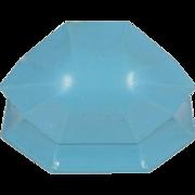 "Unusual Blue Art Deco Ring Box ""H"""