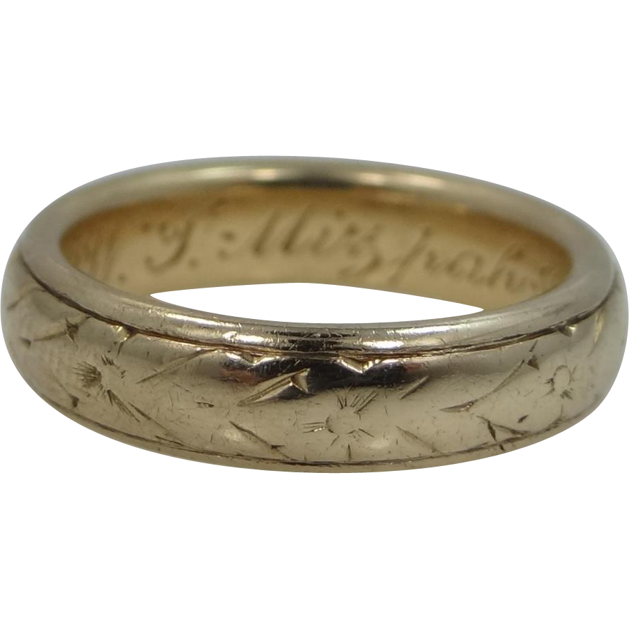 18k Solid Gold 1878 Mizpah Ring