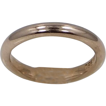 14K Solid Gold Size 6 1/2 Stacking Ring or Wedding Band