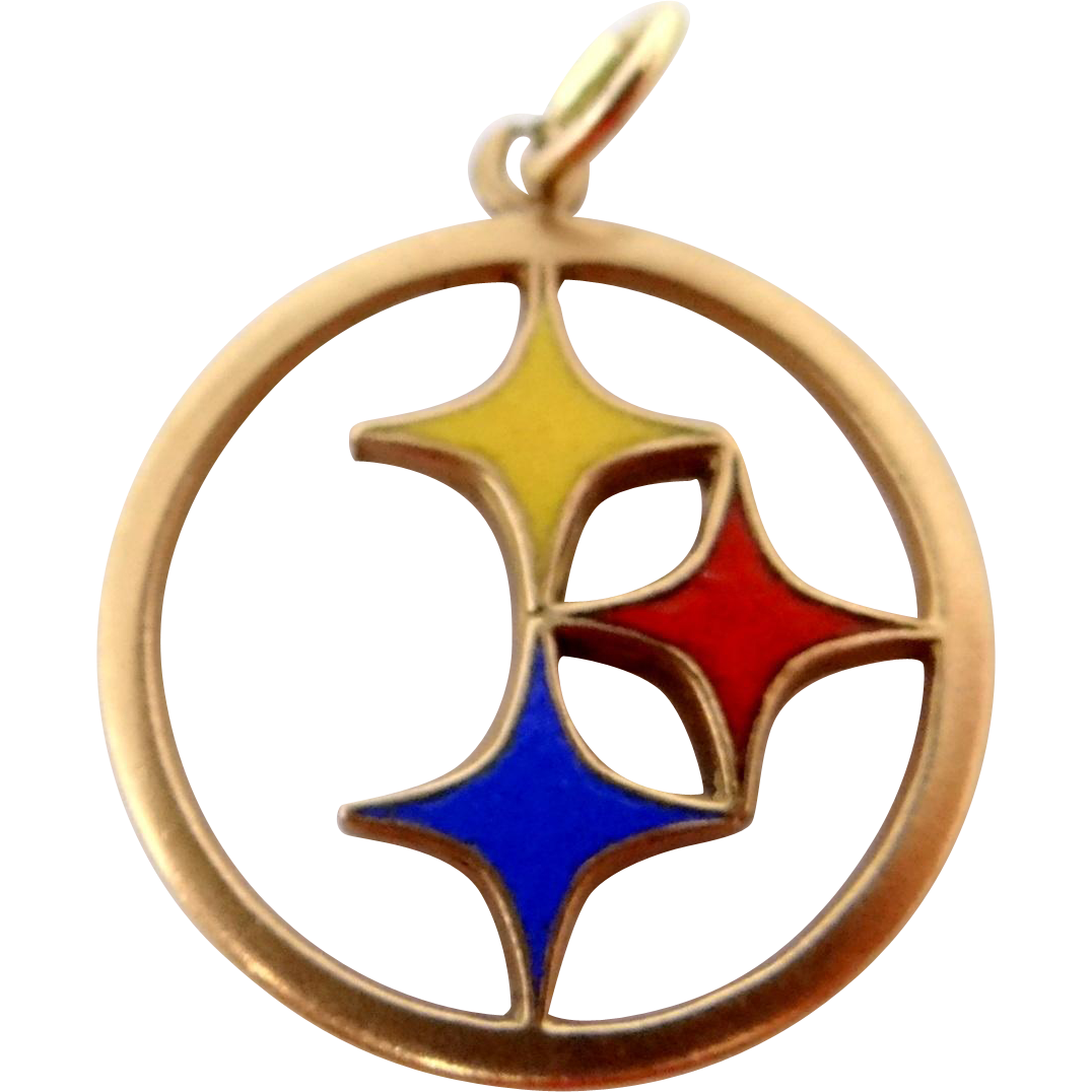 14k Gold and Enamel Pittsburgh Steelers Pendant or Charm