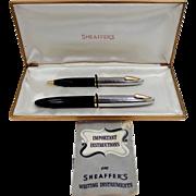 Vintage Sheaffer's White Dot Sentinel Tuckaway DeLuxe Pen Set in Original Box
