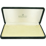 Mid Century Mikimoto Pearl Velvet Box for Necklace