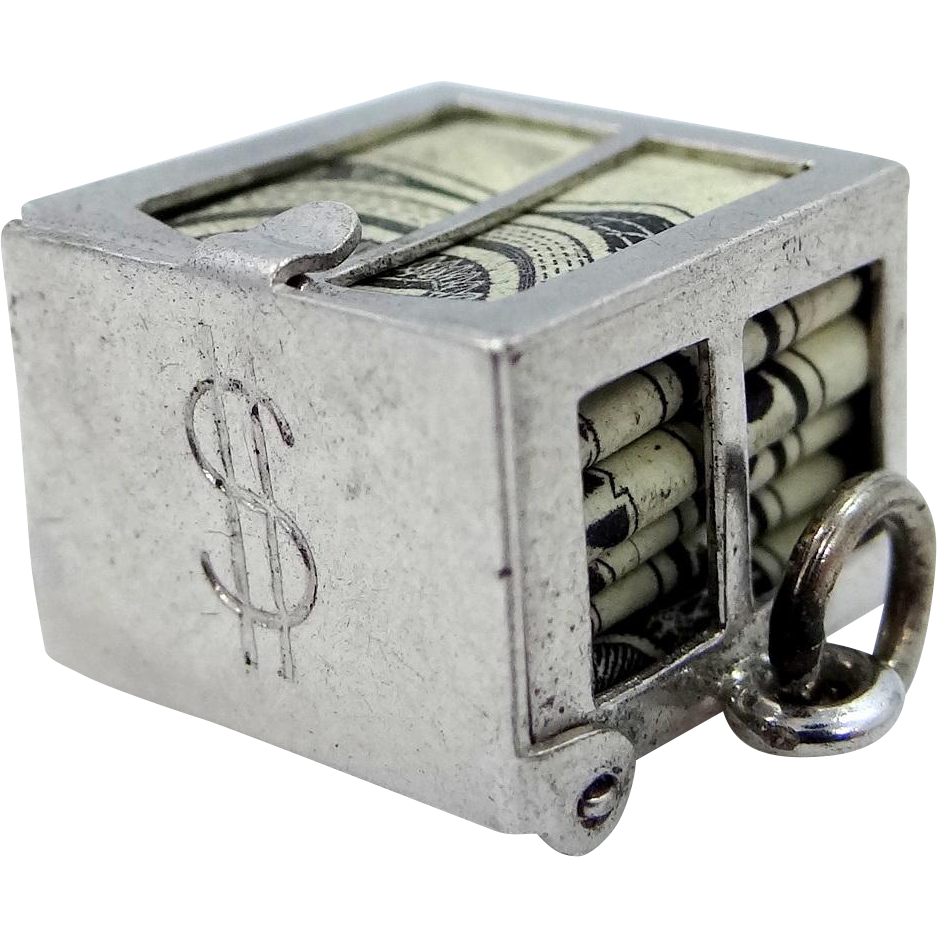 Danecraft Sterling Silver Dollar Bill Money Charm