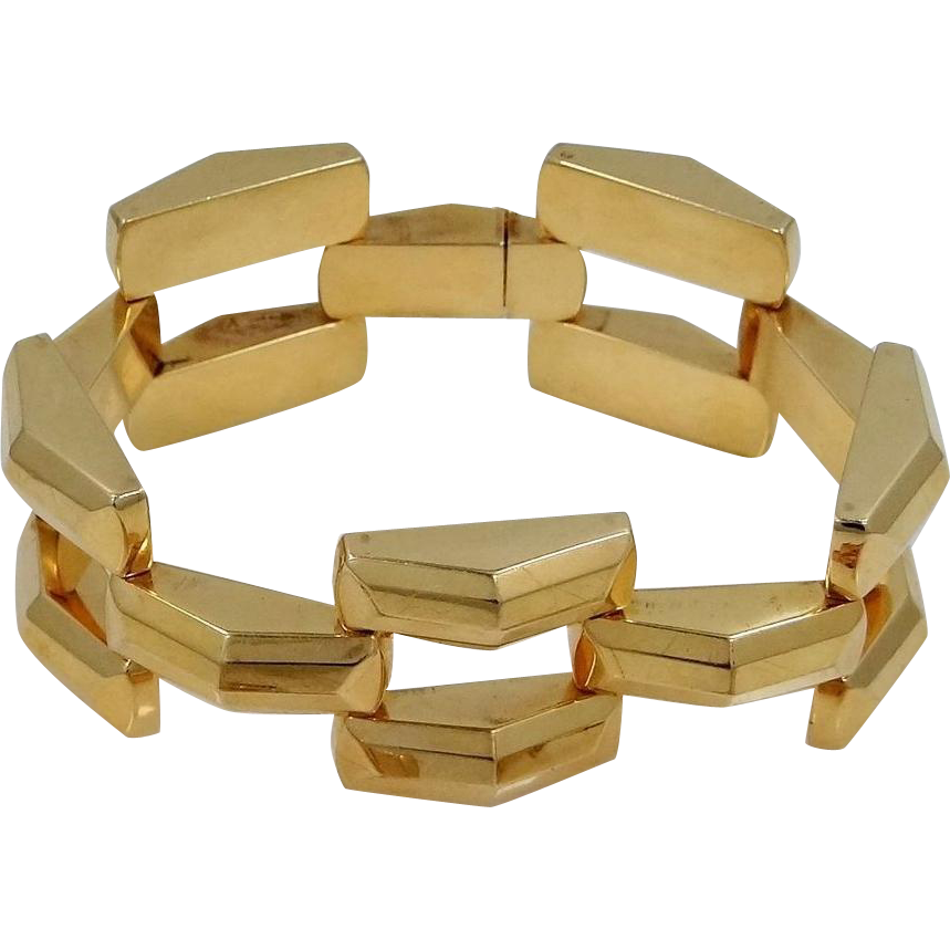 14k Gold Basketweave Pattern Bracelet 42 Grams of Gold!