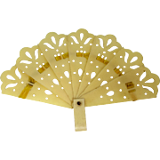 "1920s Celluloid Folding Doll Fan 2 1/4"" Long - Red Tag Sale Item"