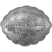Lewis and Clark Exposition 1905 World's Fair Sterling Silver Souvenir Pin