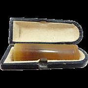 Cheroot Genuine Amber Cigarette Holder In Original Fitted Box