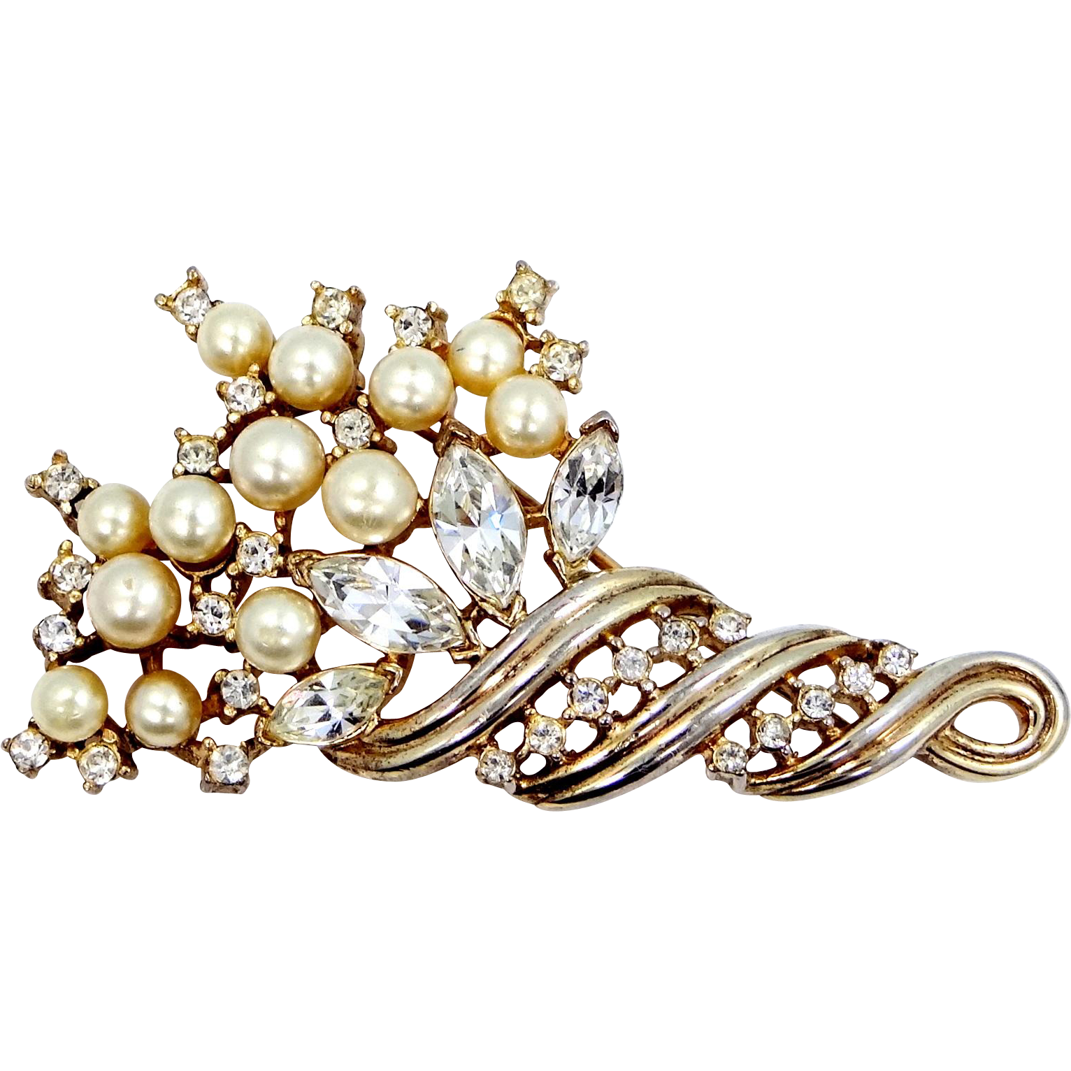 Trifari Alfred Philippe Gold Tone Cornucopia Pin