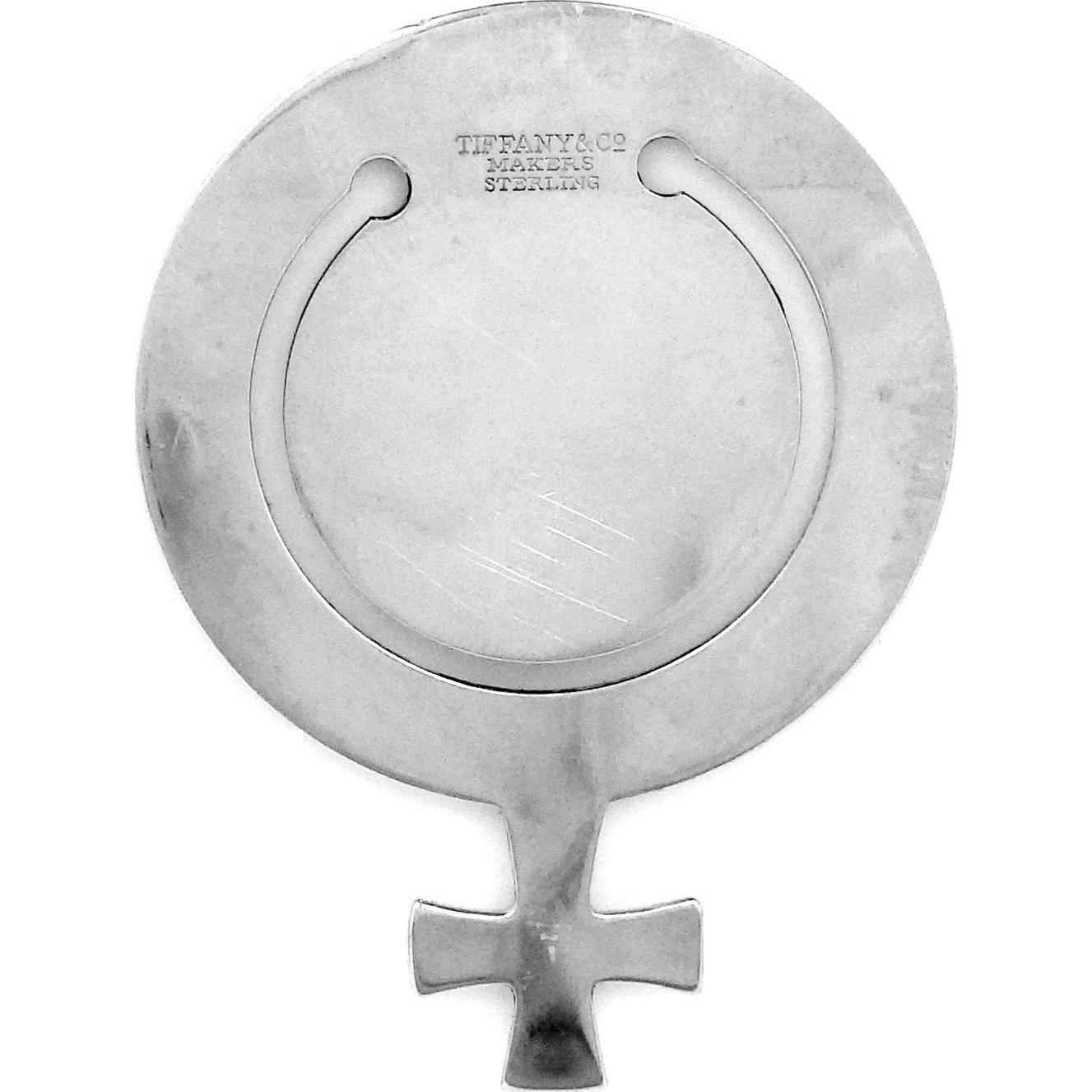 """1970s Tiffany & Co. Sterling Silver """"Venus"""" Bookmark Female Gay Lesbian Symbol"""