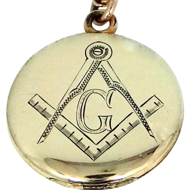 Vintage Masonic Locket and Chain