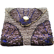 Victorian Lavender and Blue Beaded Change Purse